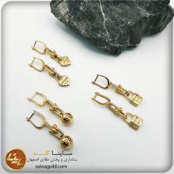 گوشواره طلا ریخته کد 1437