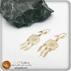 گوشواره طلا لیزری کد 1440