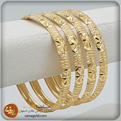 النگو طلا دامله6میل کد 1464