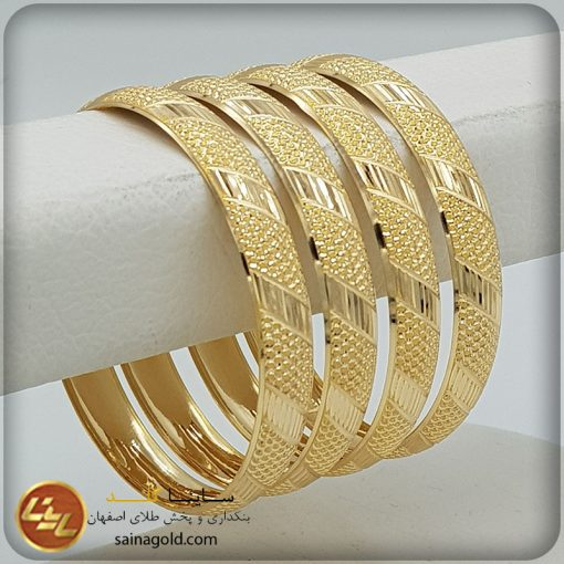 النگو طلا دامله9میل کد 1463