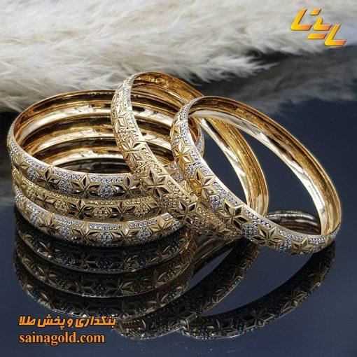 النگو طلا دامله9میل کد 1590